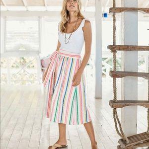 Boden Cathy Midi Skirt - Fluro Stripe